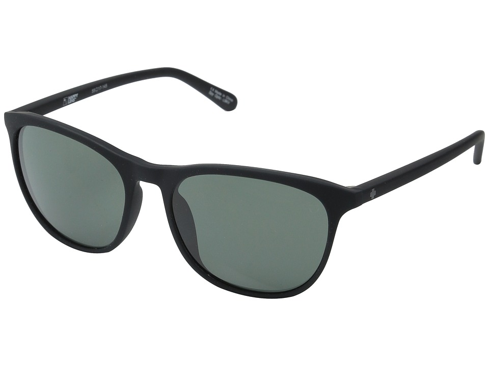 Spy Optic Cameo (Soft Matte Black/Happy Gray Green) Athletic Performance Sport Sunglasses
