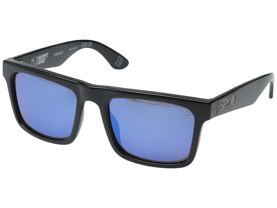 Spy Optic - Atlas (Black/Happy Bronze Polar w/ Dark Blue Spectra) Athletic Performance Sport Sunglasses