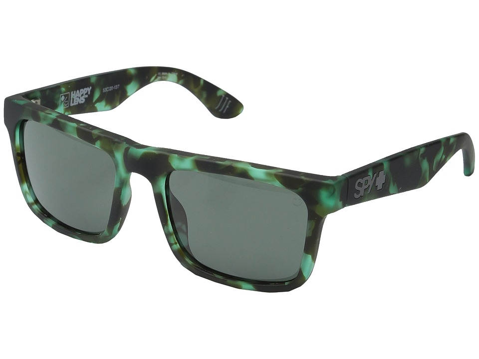 Spy Optic Atlas Soft Matte Green Tort/Happy Gray Green Athletic Performance Sport Sunglasses