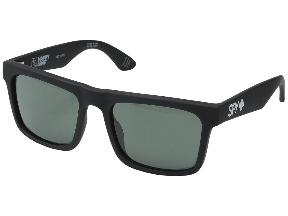 Spy Optic Atlas Soft Matte Black/Happy Gray Green Athletic Performance Sport Sunglasses