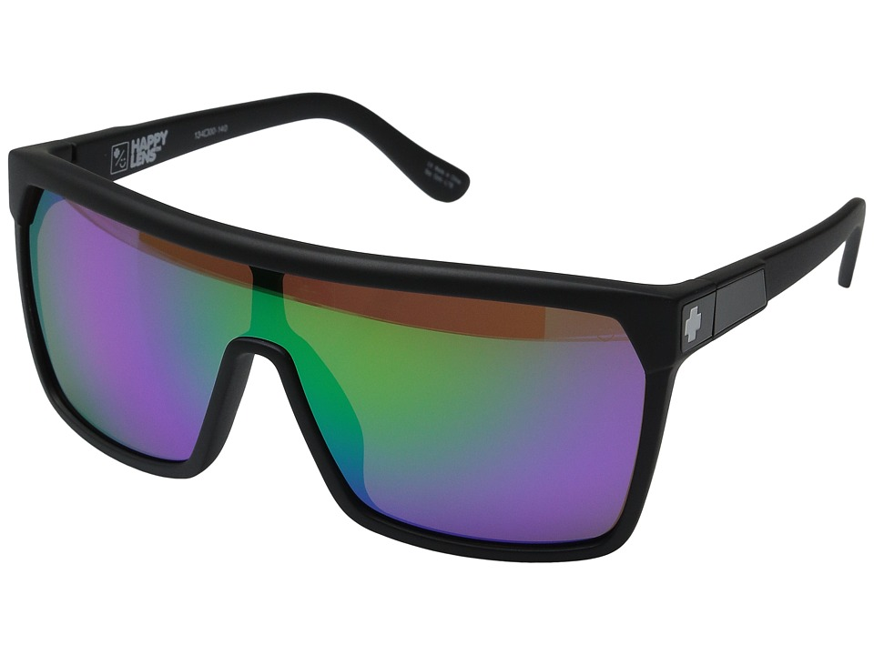 Spy Optic - Flynn (Matte Black/Happy Bronze w/ Green Spectra) Sport Sunglasses