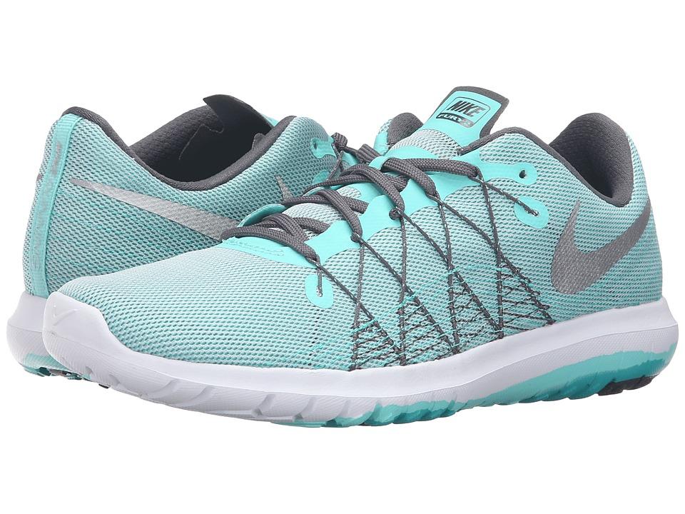 Nike Flex Fury 2 (Hyper Turquoise/Metallic Silver/Wolf Gray/Dark Grey) Women