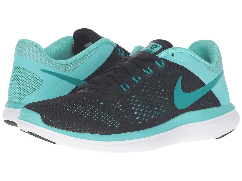 Nike - Flex 2016 RN (Black/Rio Teal/Hyper Turquoise/White) Womens Running Shoes