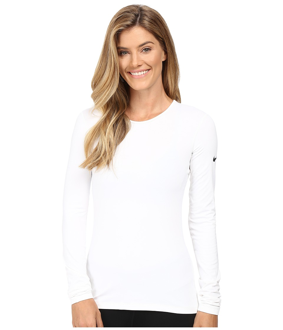 Nike Pro Warm Long Sleeve Training Top (White/Black) Women