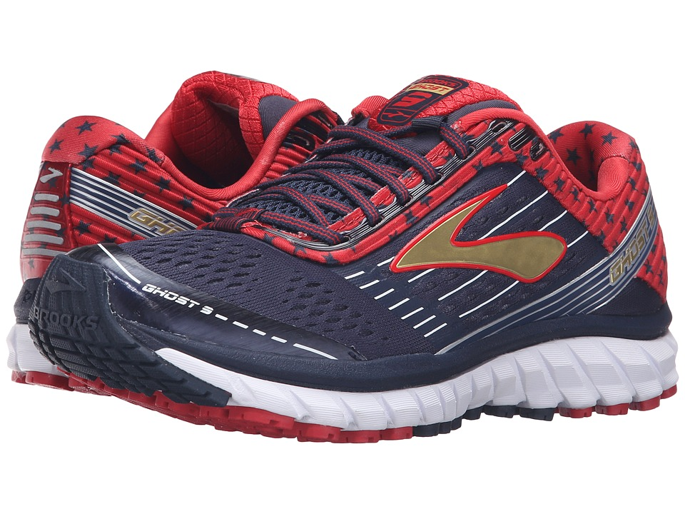 Brooks - Ghost 9 (Peacoat Navy/True Red/Gold) Womens Running Shoes