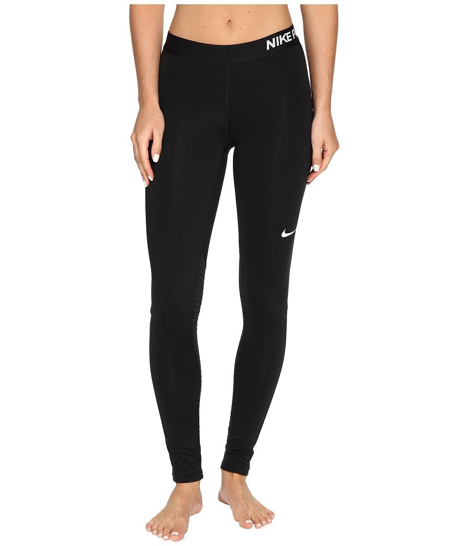 Nike Pro Warm Training Tight (Black/Black/Black/White) Women
