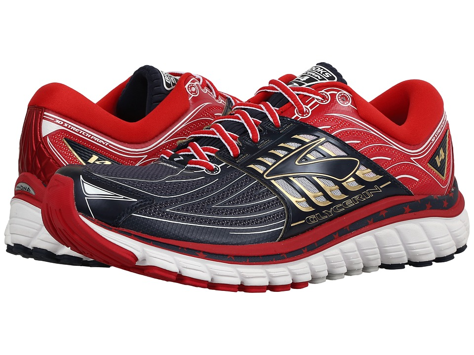 Brooks Glycerin 14 (Peacoat Navy/True Red/White) Women