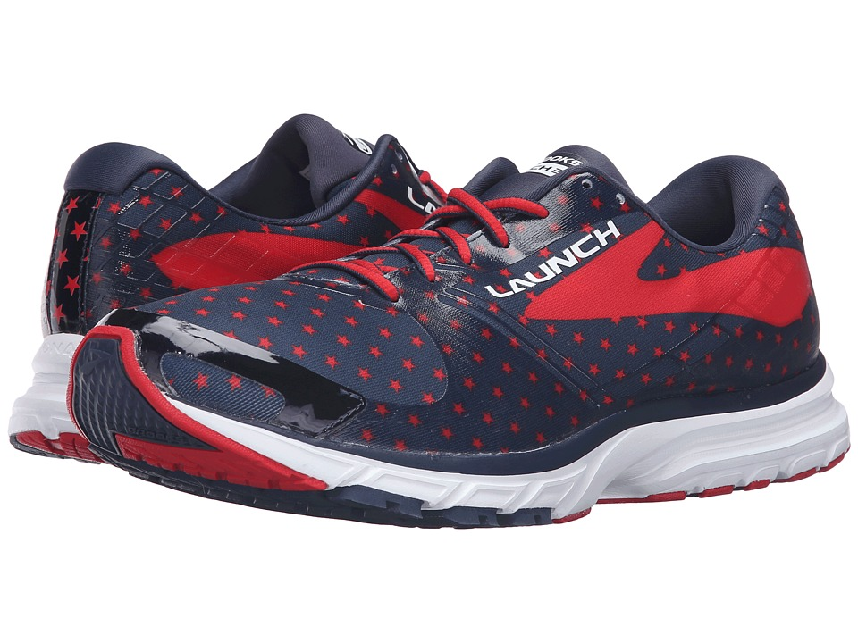 Brooks Launch 3 (Peacoat Navy/True Red/White) Men