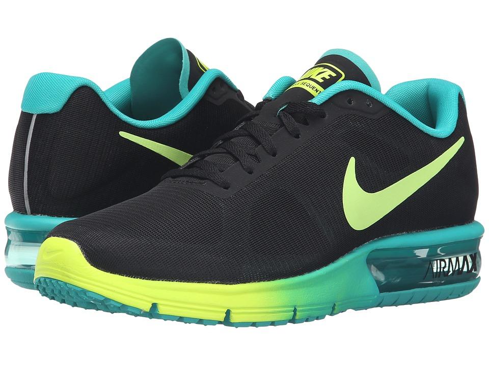 Nike Air Max Sequent (Black/Volt/Clear Jade) Women