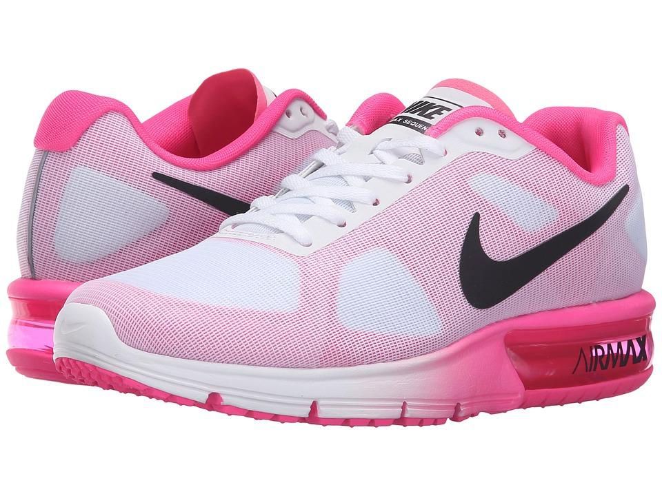 Nike Air Max Sequent (White/Black/Pink Blast) Women