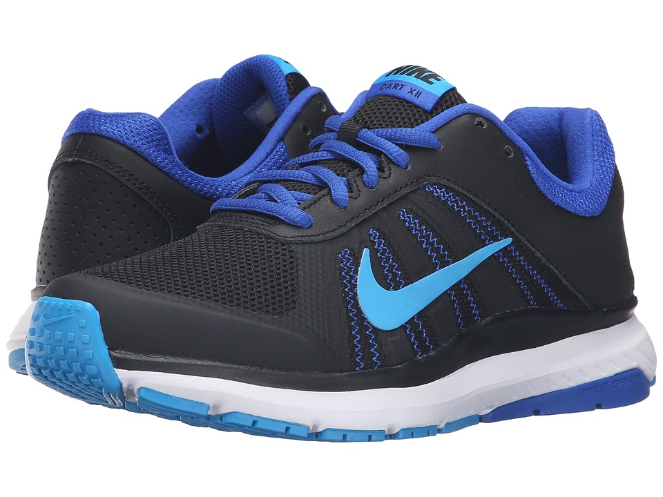 Nike - Dart 12 (Black/Blue Glow/Racer Blue/White) Womens Running Shoes
