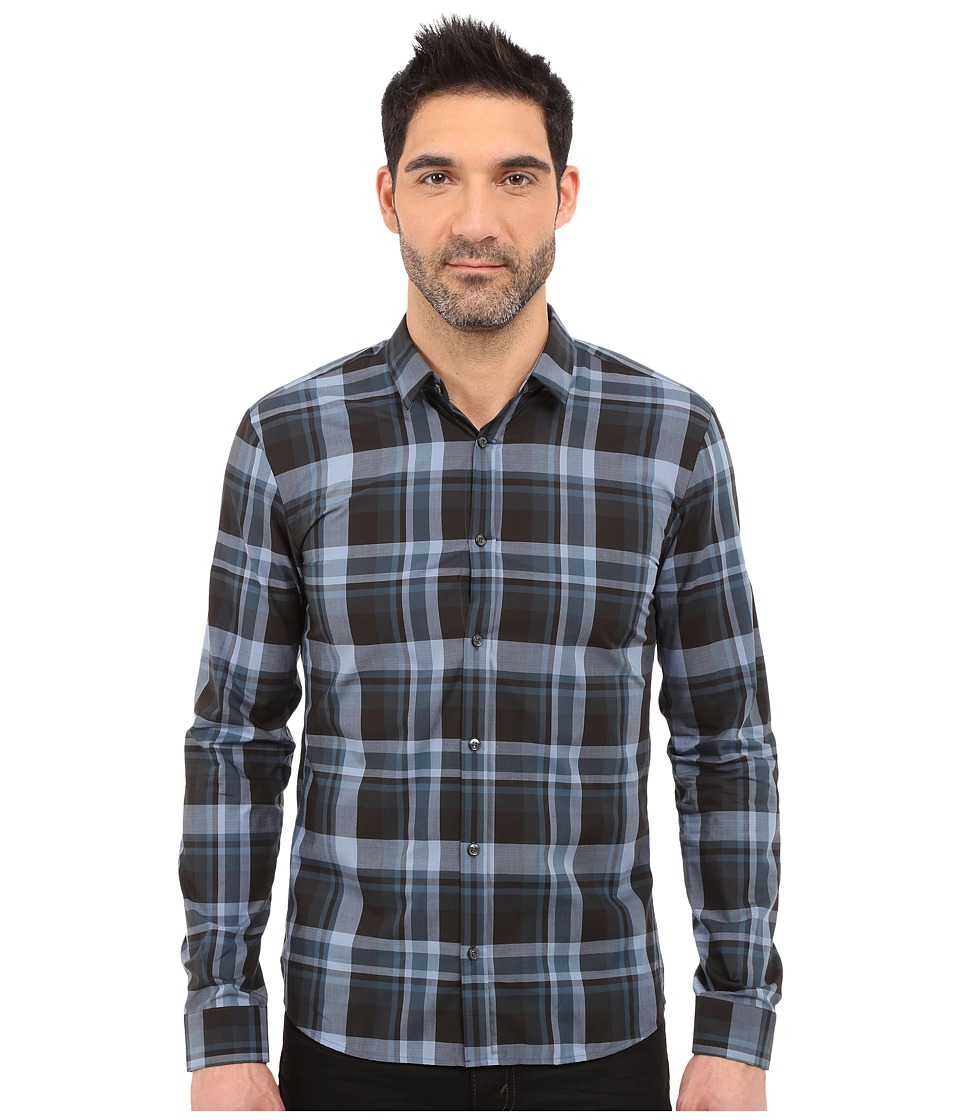 HUGO Ero Check Woven Grey Mens Clothing