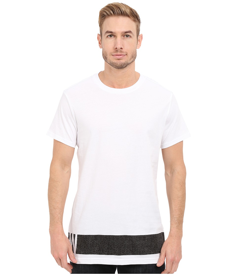 G-Star - Stonum Short Sleeve Crew Neck Long Tee in Compact Jersey (White) Men