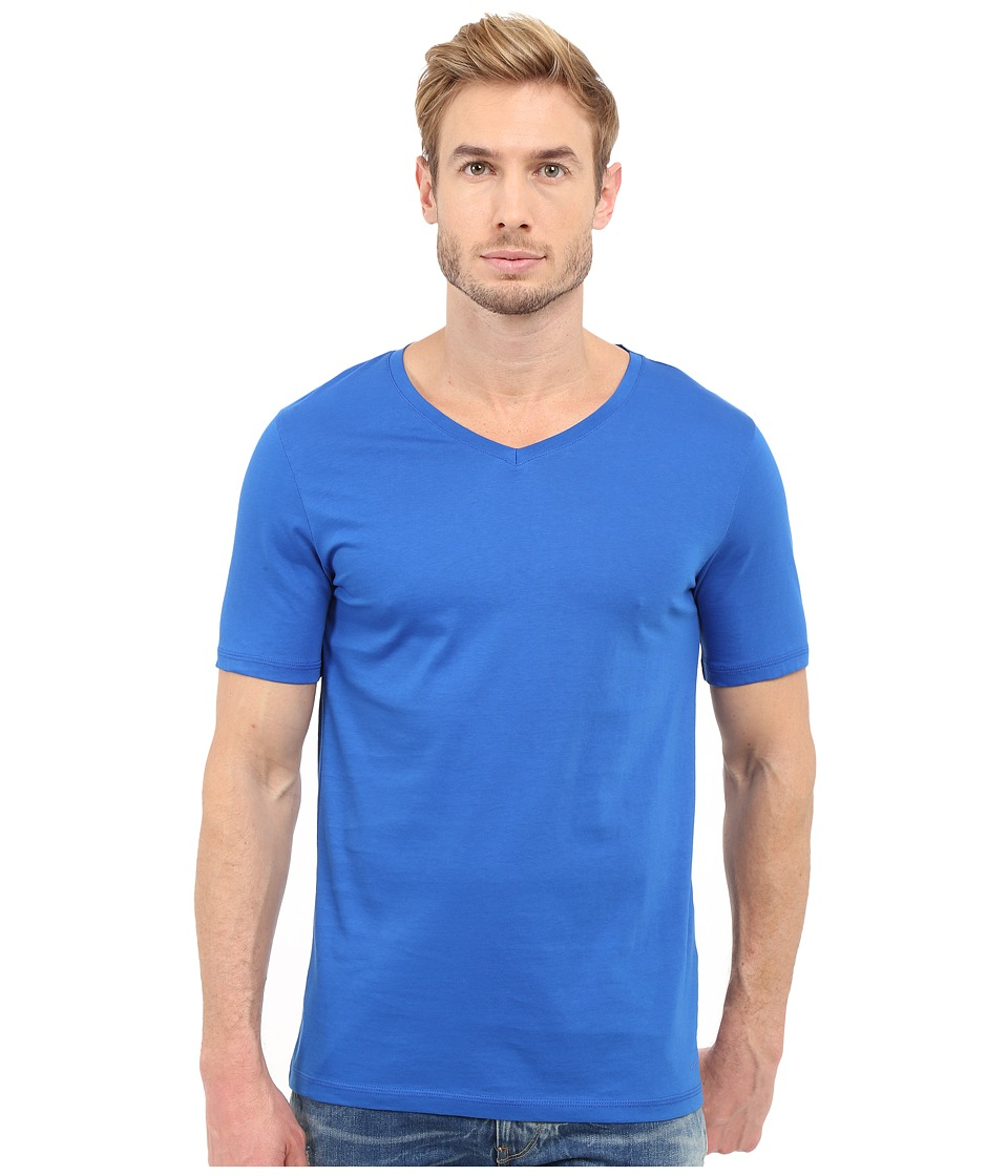 HUGO Danny 10136613 01 Bright Blue Mens Short Sleeve Pullover