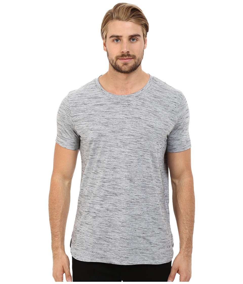 HUGO Dastings Ink Jet Tee Grey Mens T Shirt