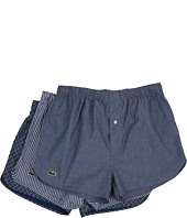 Lacoste - Authentics Chambray Woven Boxer 3-Pack