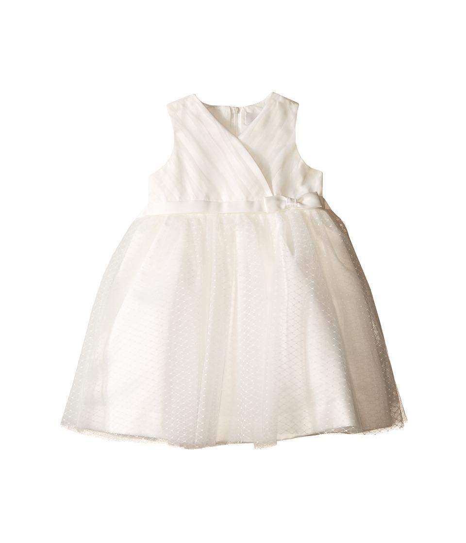 Us Angels - Satin Point d' Espirit Sleeveless Pleated Bodice Full Skirt