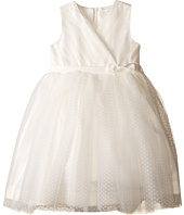 Us Angels - Satin & Point d' Espirit Sleeveless Pleated Bodice & Full Skirt (Toddler)