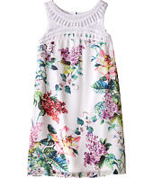 Us Angels - Floral Chiffon Crochet Yoke Trapeze Dress (Big Kids)