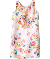 Us Angels - Floral Chiffon Sleeveless Popover w/ Flare Skirt (Big Kids)