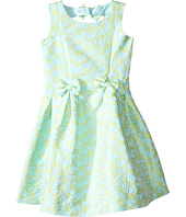 Us Angels - Brocade Sleeveless Dress w/ Bow Trim & Back Cut Out (Toddler/Little Kids)