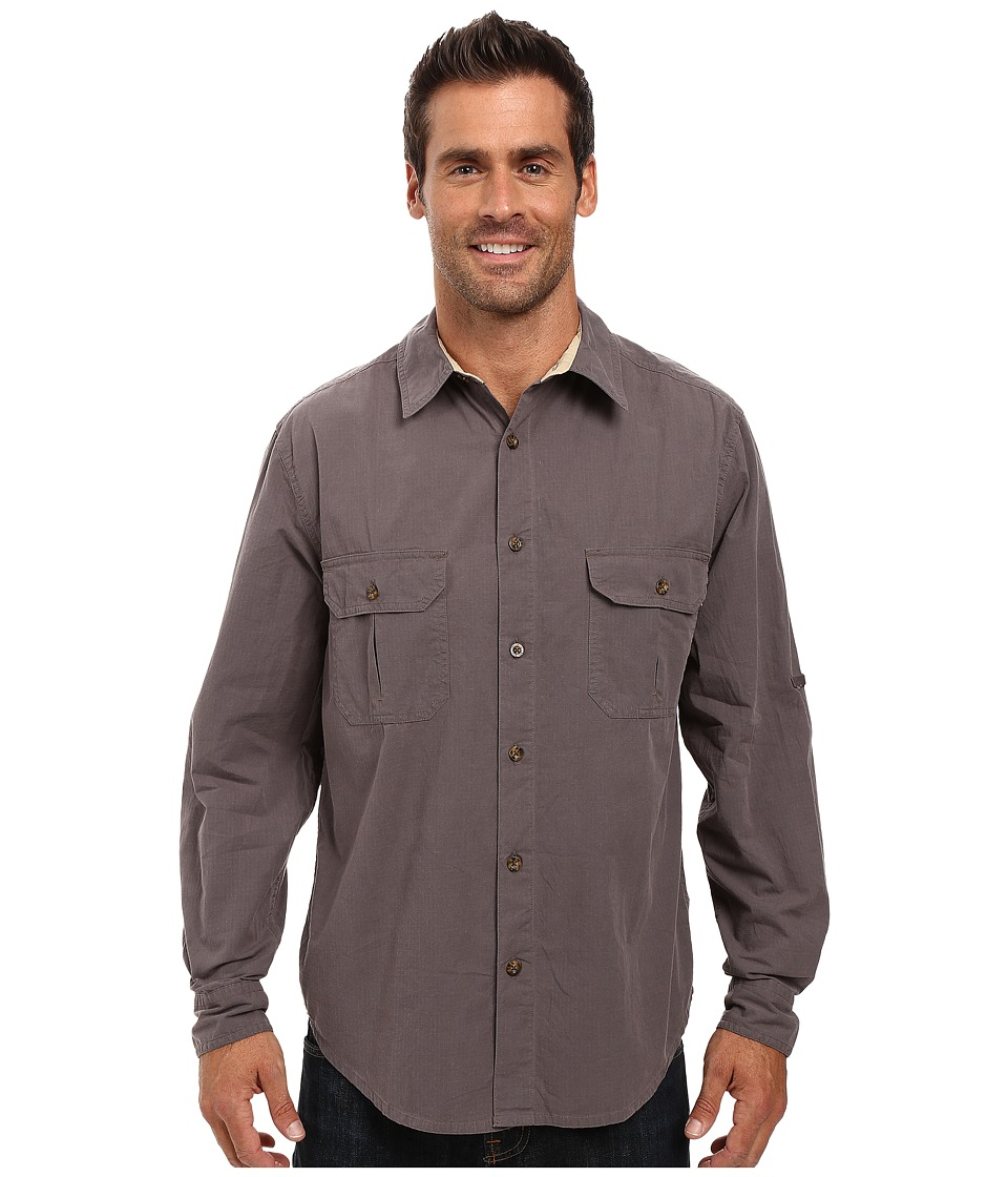 1940s Style Mens Shirts Woolrich - Midway Solid Shirt Slate Mens Short Sleeve Button Up $39.99 AT vintagedancer.com