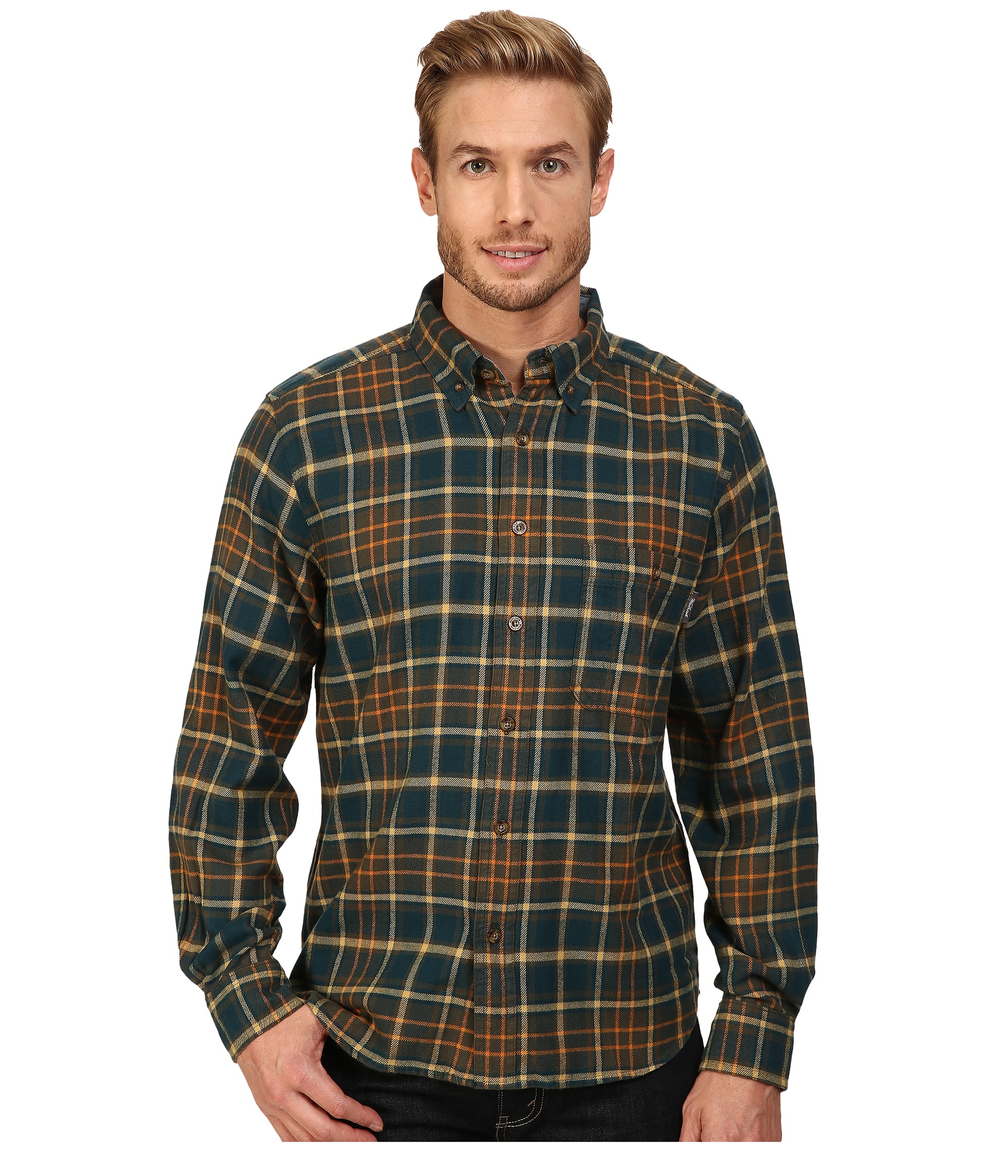 Woolrich trout run flannel shirt abyss free for Athletic cut flannel shirts