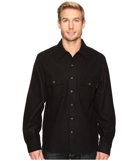 Woolrich Bering Wool Plaid Shirt - Solid Black