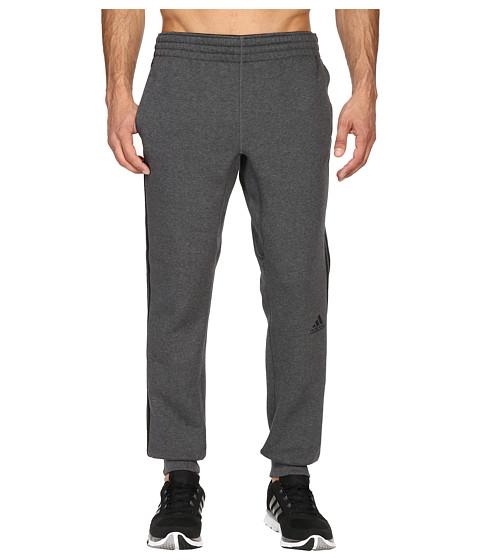 adidas Slim 3-Stripes Sweatpants - Dark Grey Heather/Black
