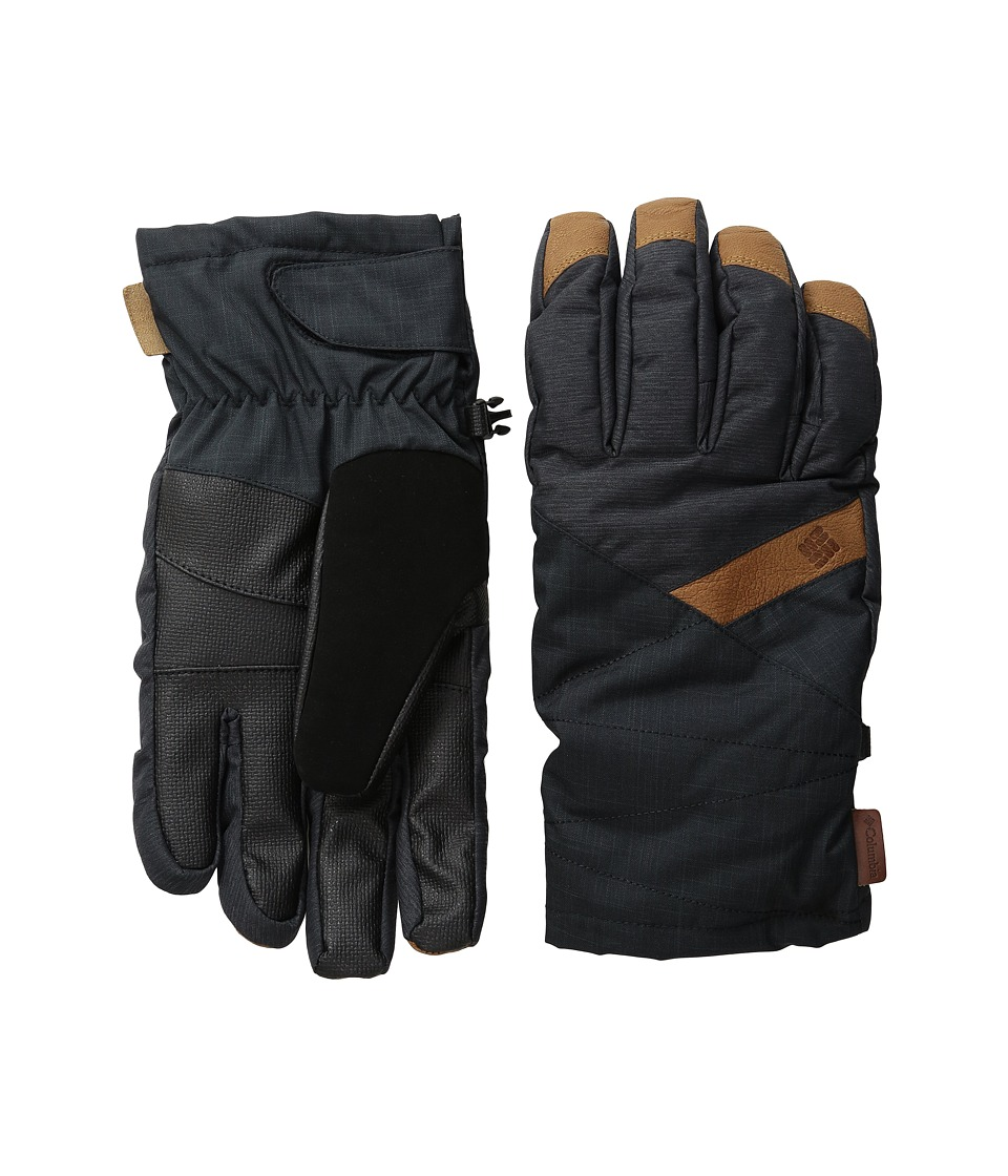 Columbia St. Anthony Gloves (Black Crossdye/Black Melange) Ski Gloves