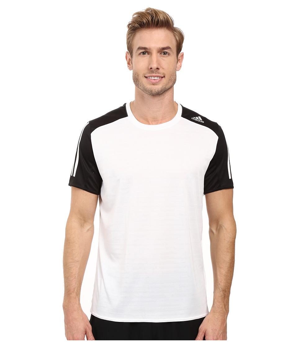 adidas - Response Short Sleeve Tee (White/Black) Men