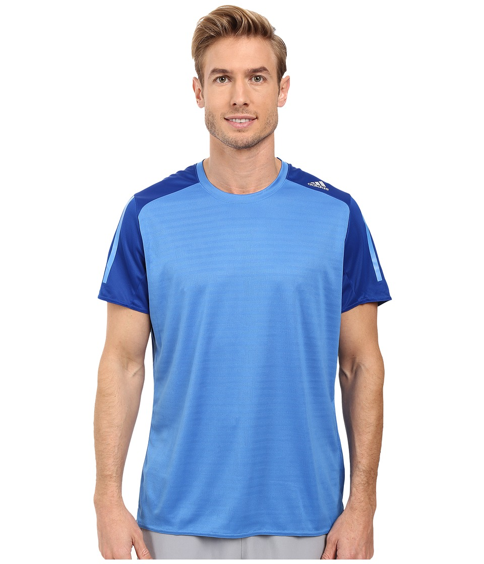 adidas - Response Short Sleeve Tee (Ray Blue/Collegiate Royal) Men