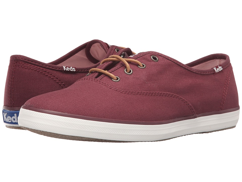 Keds - Champion Seasonal Solids (Burgundy) Women