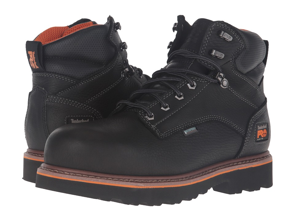 Timberland PRO Ascender 6 Alloy Safety Toe Waterproof Boot (Black Full Grain Leather) Men