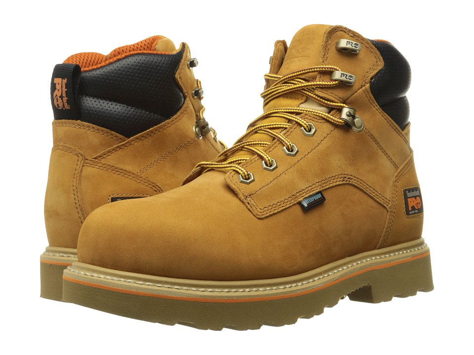 Timberland PRO Ascender 6 Alloy Safety Toe Waterproof Boot (Wheat Nubuck Leather) Men