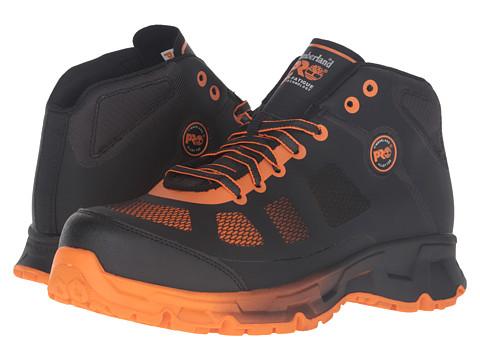 Timberland PRO Velocity Alloy Safety Toe Mid Boot - Black Synthetic/Orange Pops