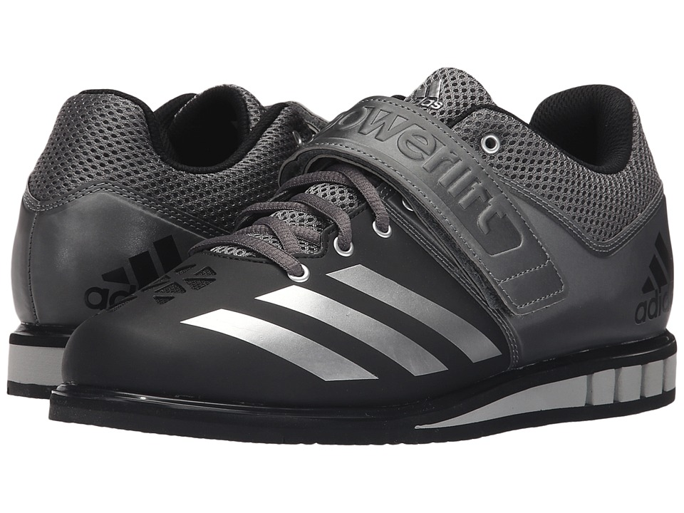 adidas - Powerlift 3 (Black/Silver Metallic/Iron Metallic) Mens Shoes