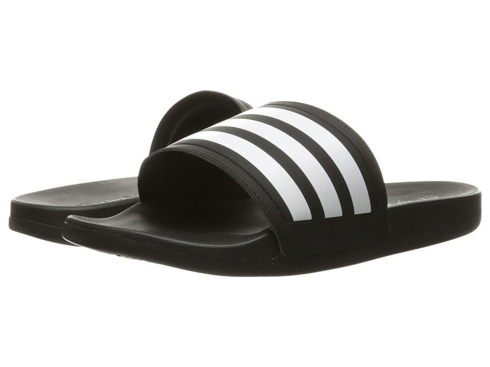 adidas Adilette Cloudfoam Ultra Stripes (Black/White) Women