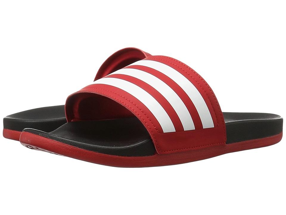 adidas Adilette Cloudfoam Ultra Stripes (Scarlet/White/Black) Women