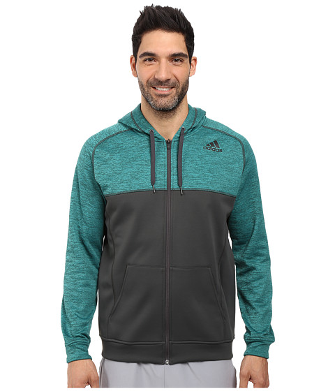 adidas Team Issue Fleece Full-Zip Hoodie - Block