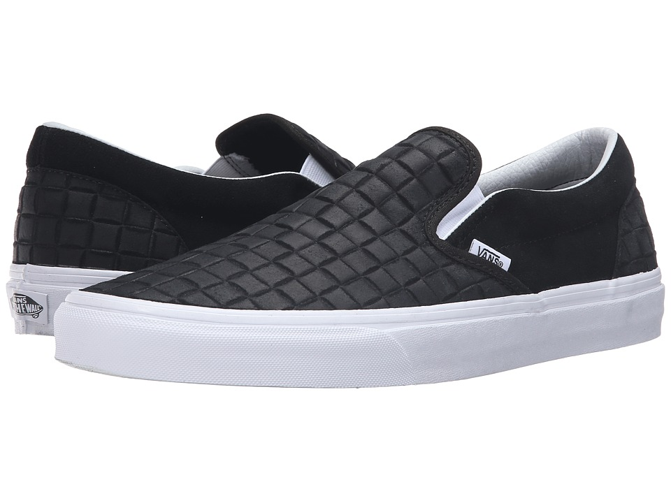 Vans Classic Slip-On ((Suede Checkers) Black) Skate Shoes