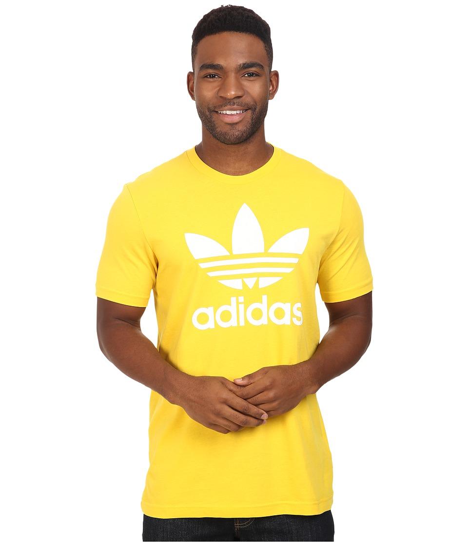 adidas Originals - Originals Trefoil Tee (EQT Yellow/White) Men