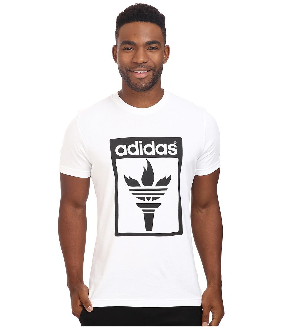 adidas Originals - Trefoil Fire Tee (White/Black) Men