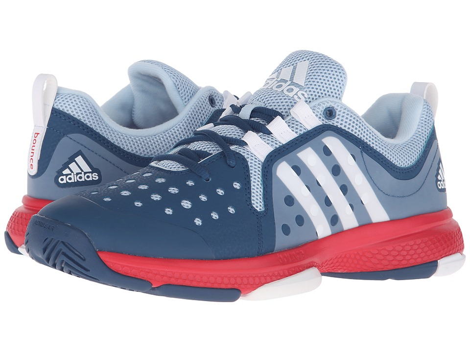 adidas - Barricade Classic Bounce (Tech Steel/White/Ray Red) Womens Running Shoes