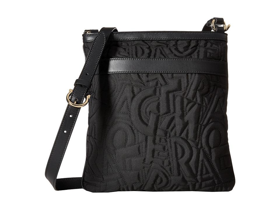Salvatore Ferragamo - Travel Nylon Messenger (Nero/Nero/Nero) Messenger Bags