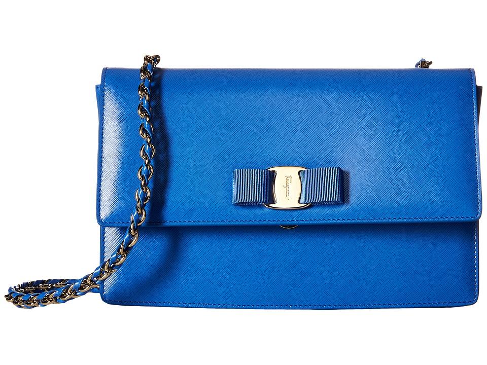 Salvatore Ferragamo - 21E480 Ginny (Bleu Indien) Handbags