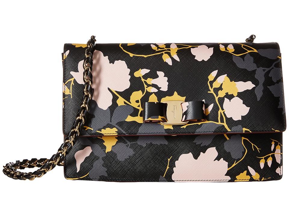 Salvatore Ferragamo - 21E480 Ginny (Nero/Pollen/Fumee/Bonbon) Handbags