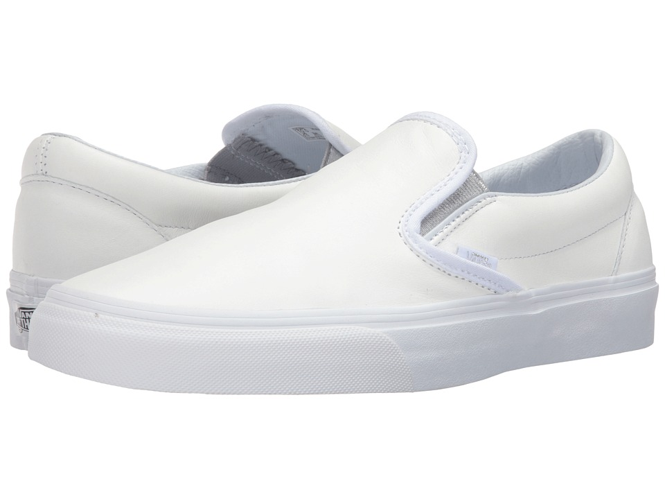 Vans Classic Slip-On ((Metallic Gore) White/Silver) Skate Shoes