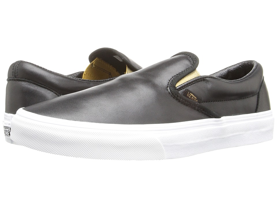Vans Classic Slip-On ((Metallic Gore) Black/Gold) Skate Shoes