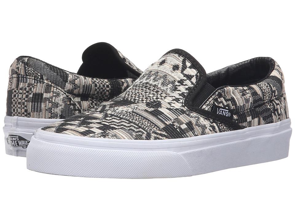 Vans - Classic Slip-On ((Italian Weave) White/Black) Skate Shoes